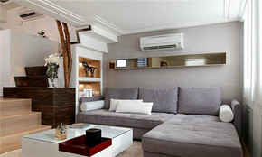 现代风格小跃层客厅装修效果图