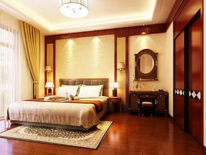 中式风格卧室衣柜装修效果图