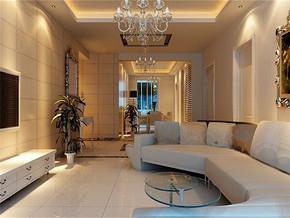 简欧风格客厅最新房屋装修设计效果图