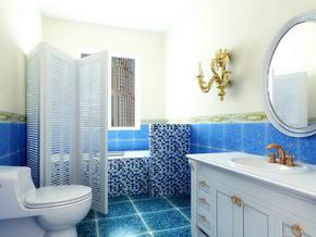 家装卫生间瓷砖效果图