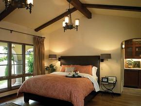歐式古典風格臥室吊頂吊燈裝修效果圖