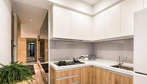 简约中式风格二居厨房橱柜装修效果图
