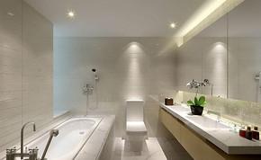 洗手間簡潔裝修效果圖