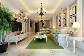 70平两室一厅室内装修效果图