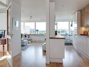 現代簡約風格宜家廚房裝修效果圖