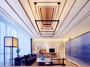家装现代简约风格客厅吊顶装修设计