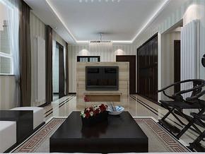 现代客厅立体墙贴效果图片大全