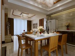 現代家居餐廳吊頂裝修效果圖