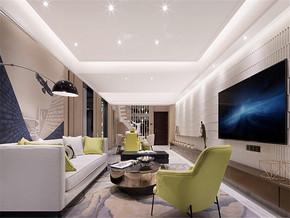 144平樣板房裝修客廳吊頂裝修