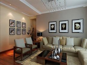 现代客厅沙发背景效果图
