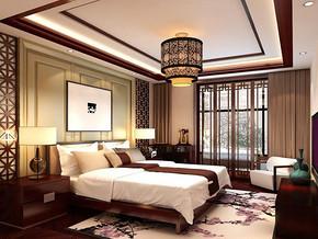 中式风格卧室吊顶装修效果图