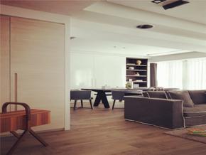 明朗現代風格客廳吊頂裝修圖片