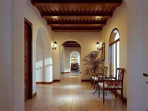 美式客厅过道吊顶装修效果图