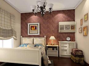 現代風格臥室壁紙裝修效果圖