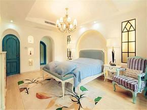 268m²地中海风格别墅卧室背景墙装修图片