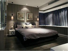 现代风格卧室背景墙装修效果图