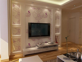 現代客廳電視背景墻室內飄窗設計效果圖