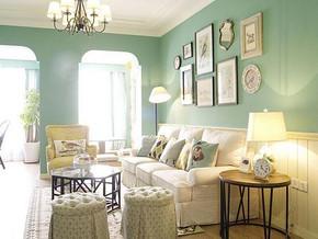 韩式风格客厅沙发背景墙装修效果图