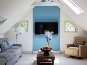 田园风格客厅电视墙装修设计效果图