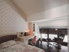 田园阁楼卧室装修效果图