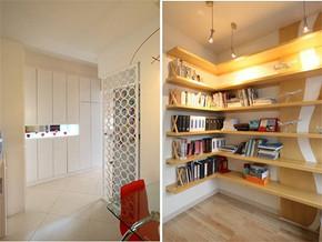 小户型装修书架与玄关图片
