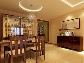 新中式風格餐廳裝修效果圖