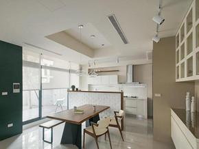 日式风格餐厅吊灯吊顶装修效果图