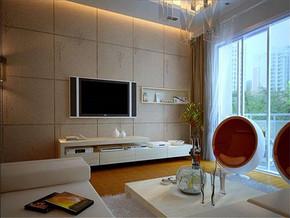 现代客厅电视背景墙客厅样板间