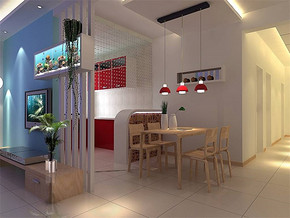 现代简约房屋餐厅装修效果图