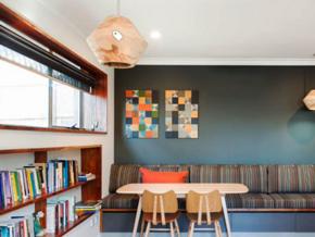 时尚色彩混搭现代风格书房装修效果图