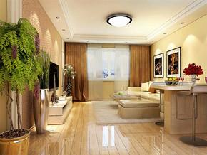 现代简约小面积客厅装修效果图