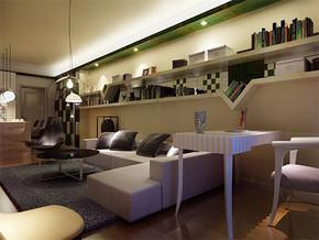 現代風格小戶型客廳吊頂裝修效果圖