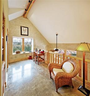 现代风格联排别墅客厅过道装修效果图