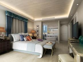 地中海风格卧室吊顶装修效果图