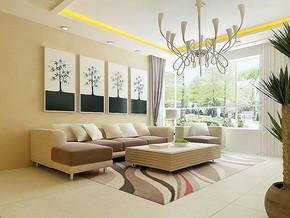 韓式風格客廳背景墻裝修效果圖