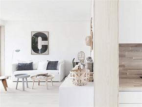 現代簡約白色客廳裝修圖片
