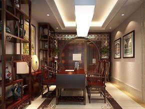 中式風格書房裝修效果圖