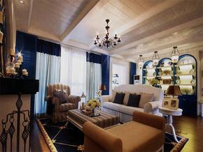地中海風格客廳室內裝修效果圖大全