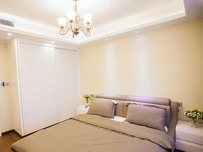 简约美式风格卧室装修效果图