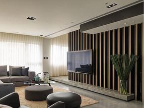 現代風格客廳電視背景墻裝修效果圖
