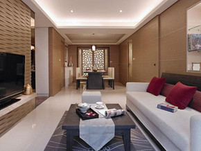 現代簡約風格客廳隱形門背景墻裝修效果圖
