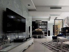 現代簡約風格客廳電視背景墻裝修效果圖