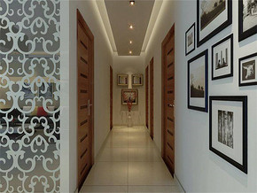 現代風格走廊照片墻裝修效果圖