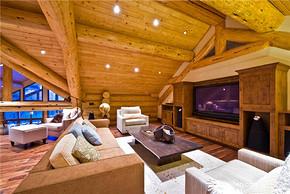 现代风格大别墅顶层客厅装修效果图