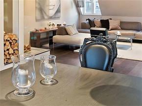 現代簡約風格小戶型客廳影視墻裝修效果圖