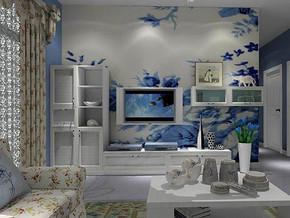 韩式风格客厅电视背景墙装修效果图