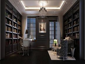 新古典风格书房效果图