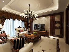 简约风格三室一厅装修效果图