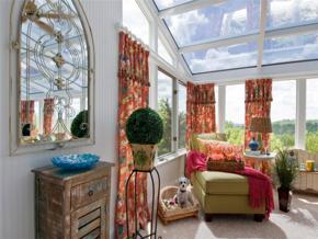 北欧风格清新典雅阳台装修实景图