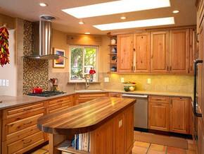 欧式厨房橱柜装修效果图